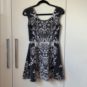 UO Pins & Needles Black and White Dress